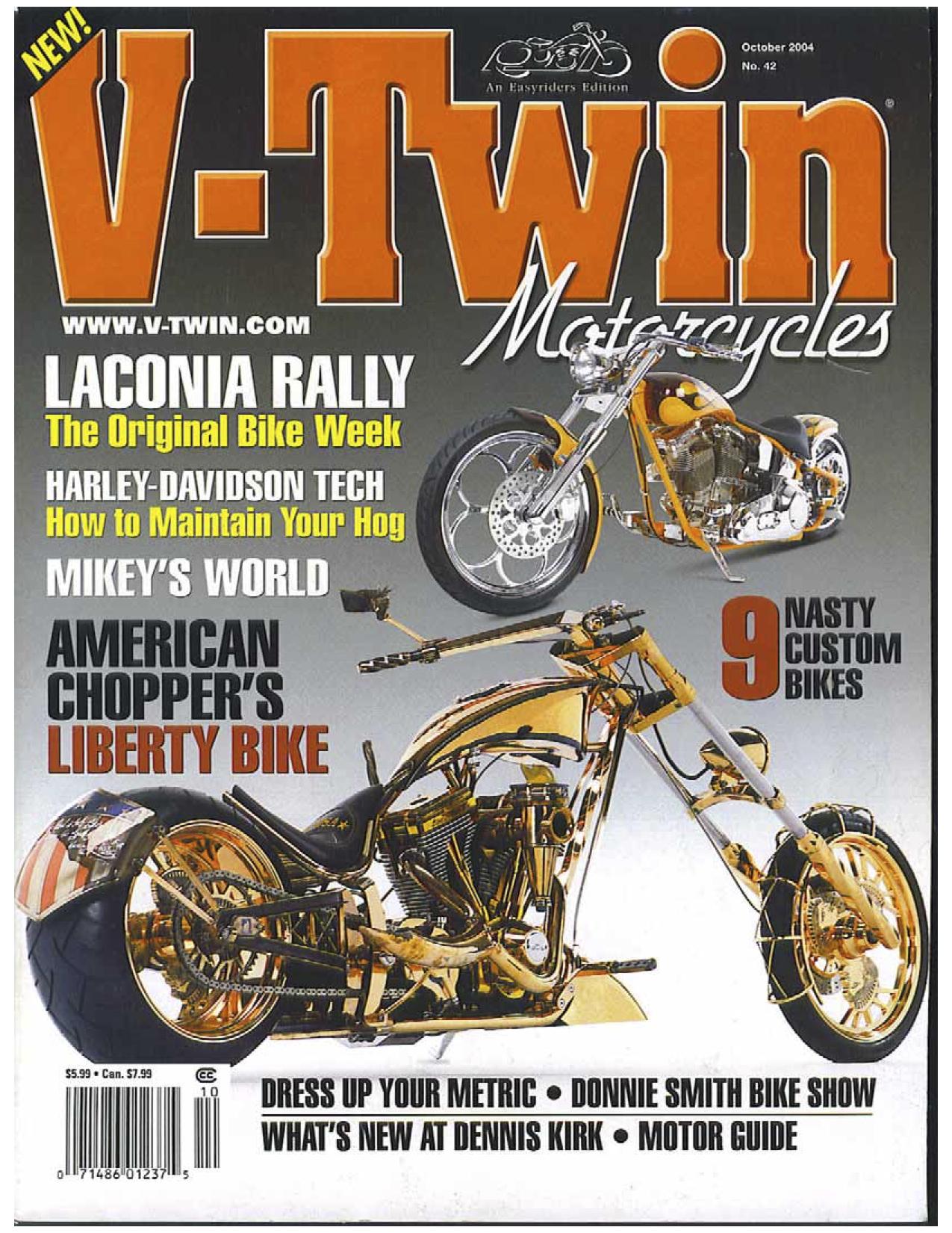 Statue of Liberty Bike in V-Twin Magazine